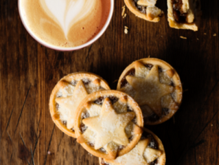 Liberty coffee and mince pies at Lauderdale House