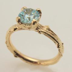 twig ring w/ montana sapphire
