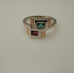 art deco inspired ring