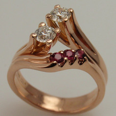 freeform and funky five stone ring