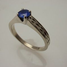 sapphire w/ braided cathedral shank