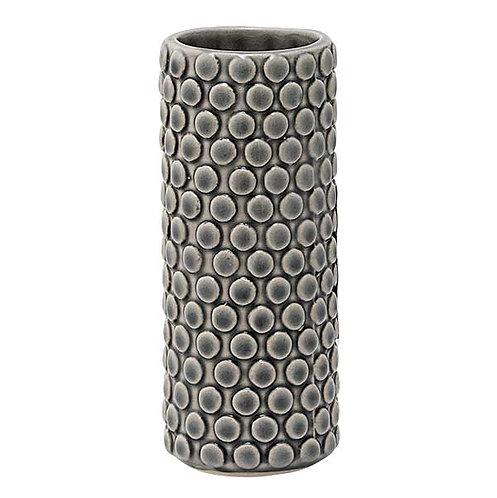Graue Vase aus Steingut