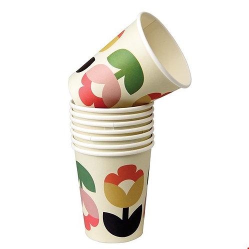"""Set mit 8 Pappbechern """"tulip bloom"""""""
