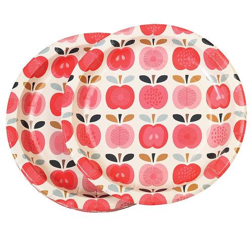 """Set mit 8 Papptellern """"vintage apple"""""""