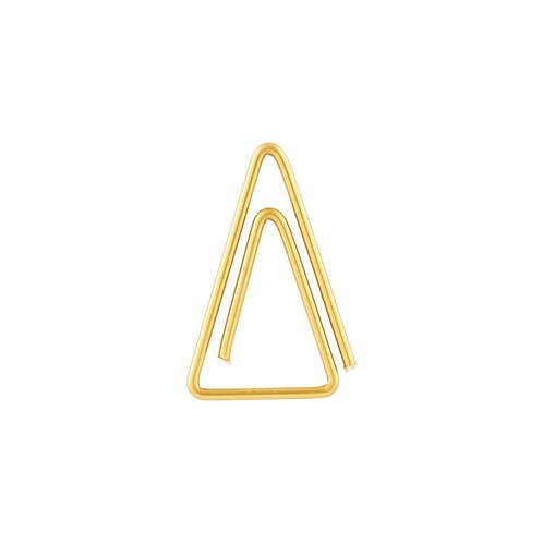 20 Goldene Büroklammern in Dreieck-Form