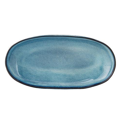 Platte, Bloomingville Sandrine, blau