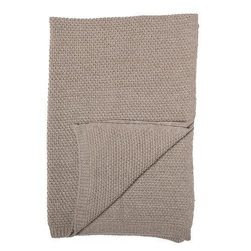 Braune Decke aus Wolle