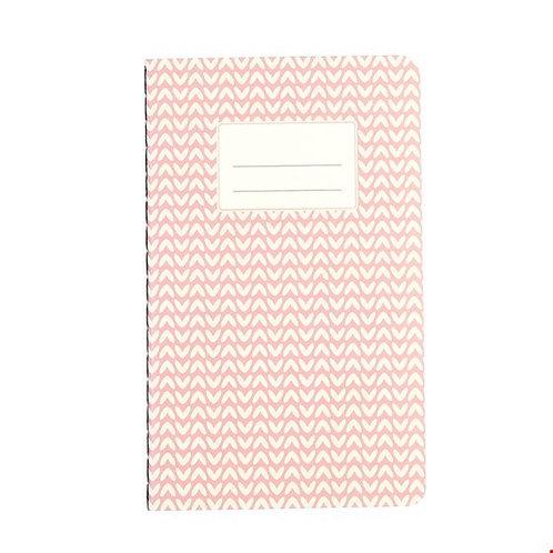 Kleines pinkfarbenes Notizbuch A6