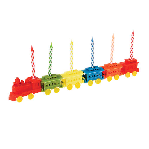 Geburtstagskerzen mit Zug