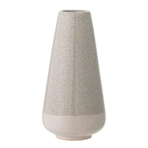 Grau-weiße Vase aus Steingut