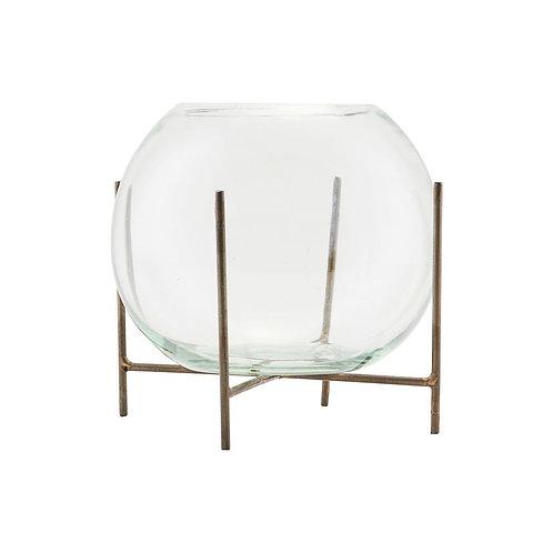 Vase, Glas mit Metallgestell von Society of Lifestyle