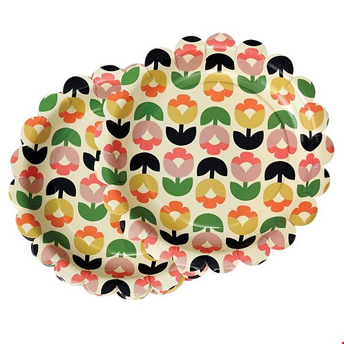 "Set mit 8 Papptellern ""tulip bloom"""