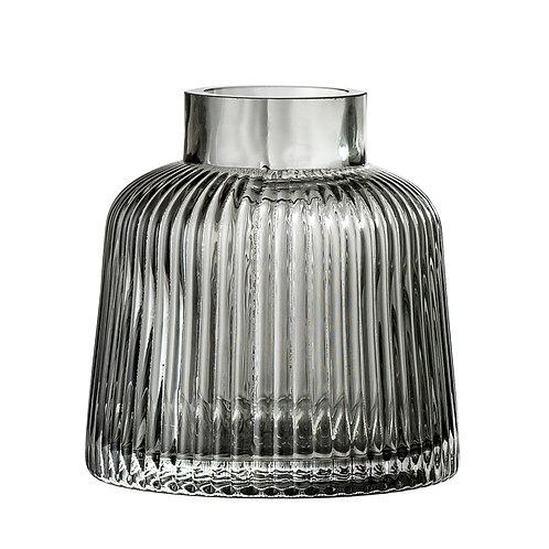 Graue Vase aus Glas