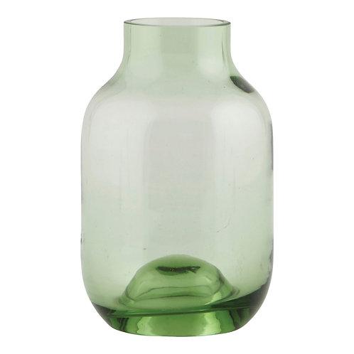 Grüne Vase aus Glas