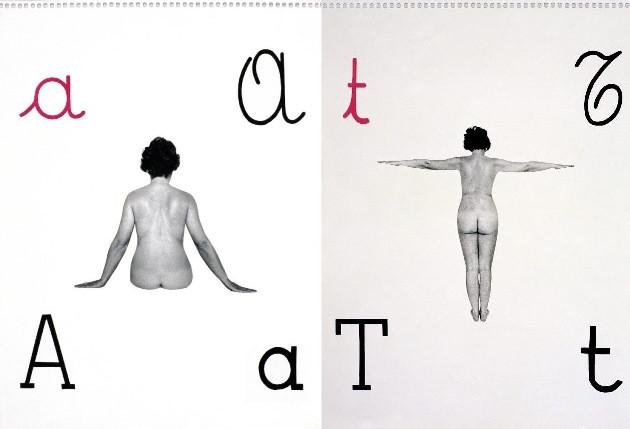 O alfabeto, criado pela artista Tomaso Binga com o próprio corpo em 1976, virou cenário da Dior