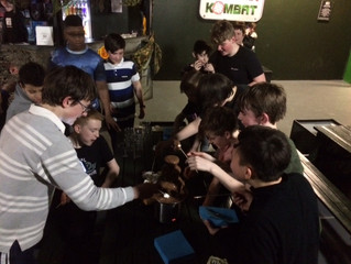 Friday night fun for the Hammers at Laser Kombat