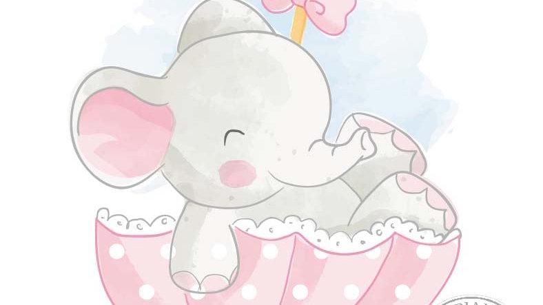 Elefantina nell'ombrello