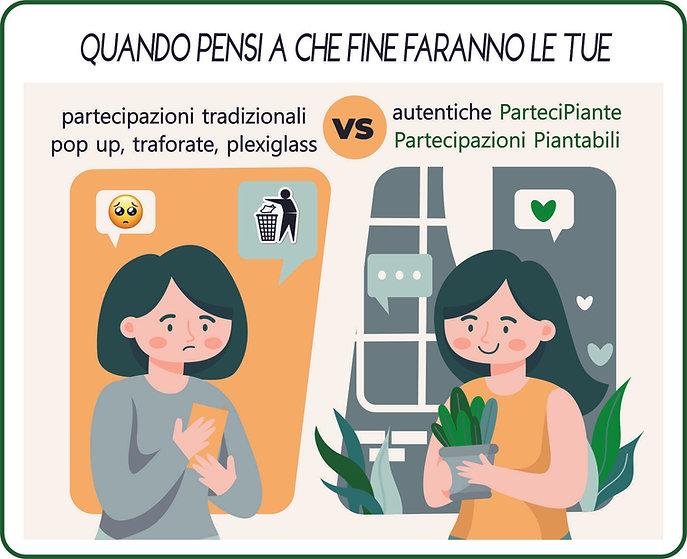 partecipiante, partecipazioni piantabili, carta semi, partecipazioni ecologiche, partecipa