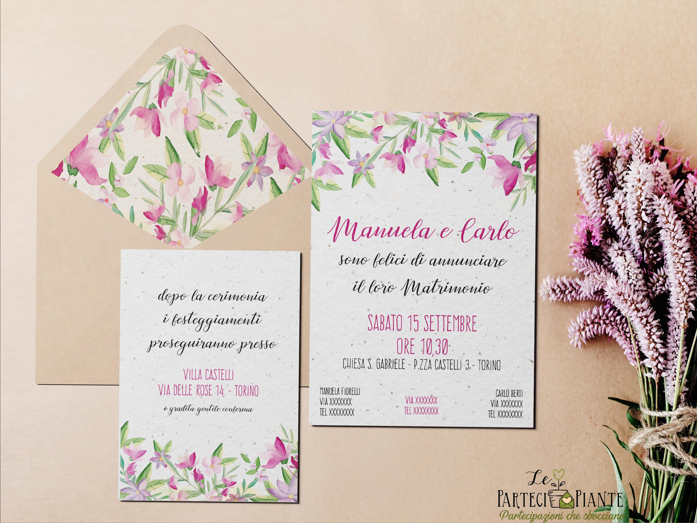 Matrimonio Tema Primavera : Partecipiante per le nozze