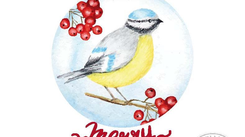 Pallina con uccellino