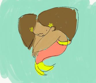 Marisa is a mermaid