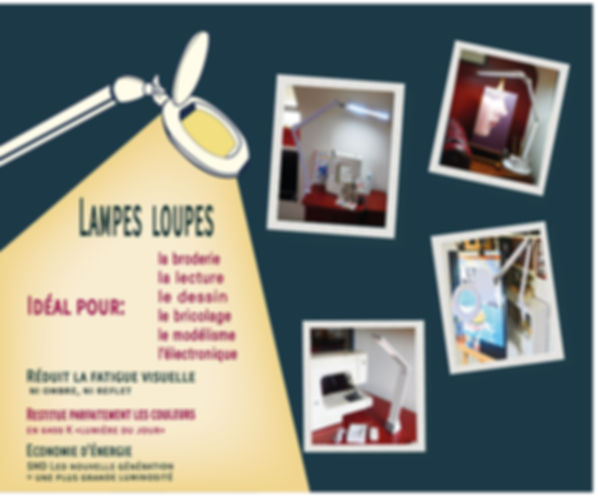 Cathy et ses outils.lampes loupes smd le
