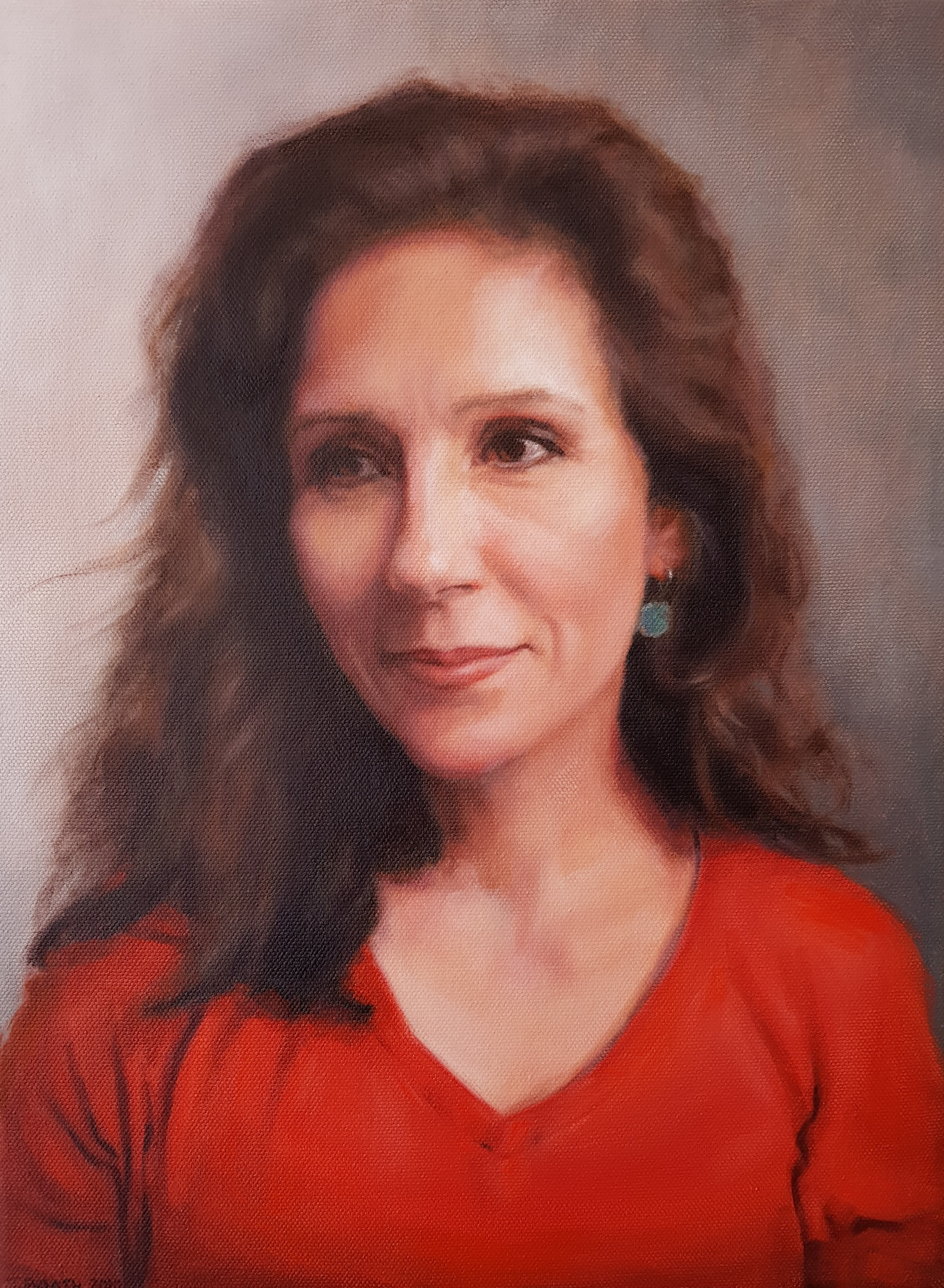 """Belinda"", commissioned portrait, oil on canvas, 30x40cm, SOLD"