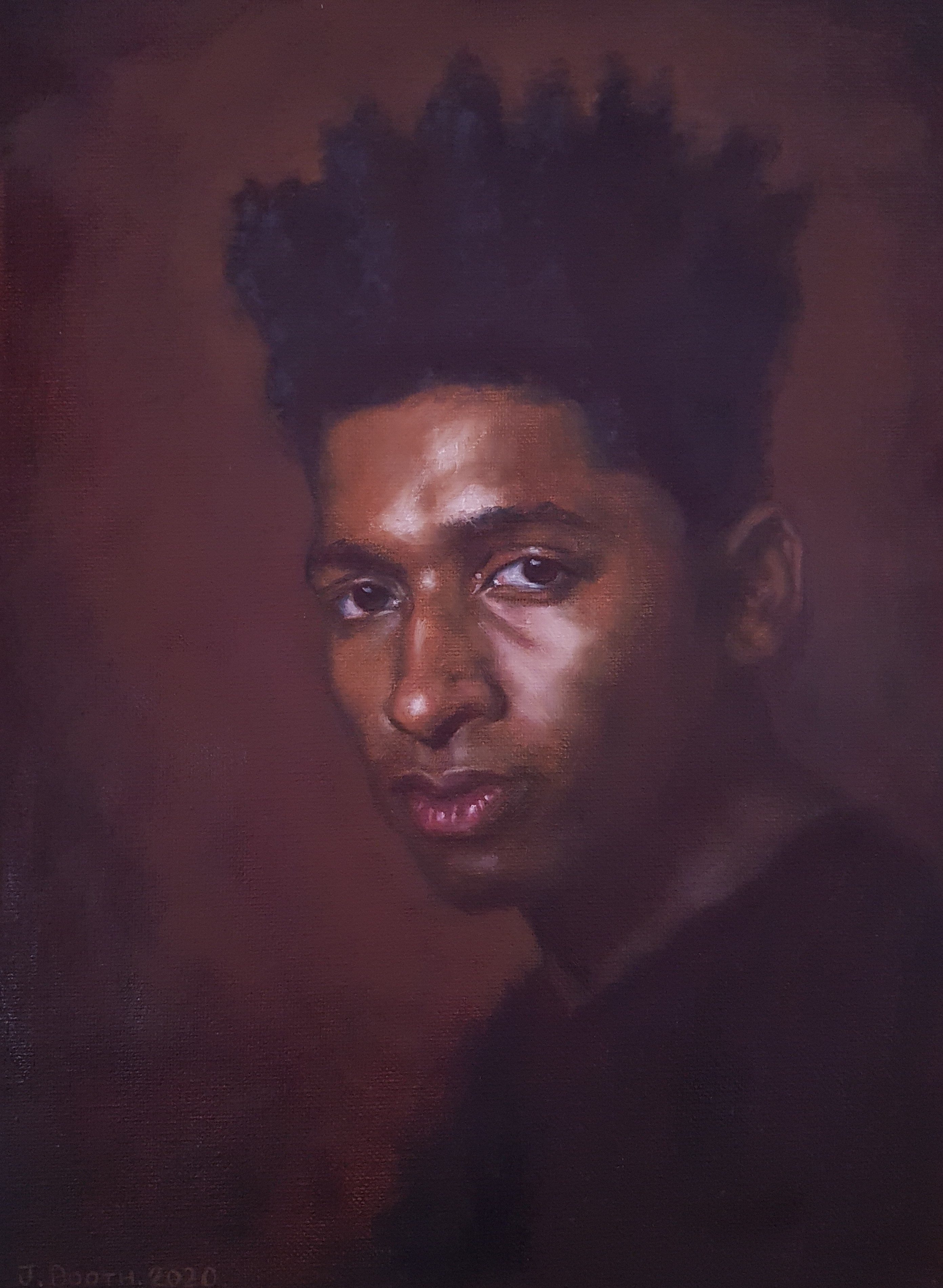 """Portrait of a Young Man"", oil on canvas, 30x40cm"