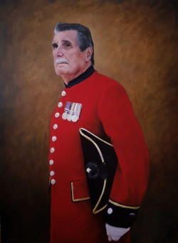 Regimental Sergeant Major Arthur Currie_oil on linen_30x40inches