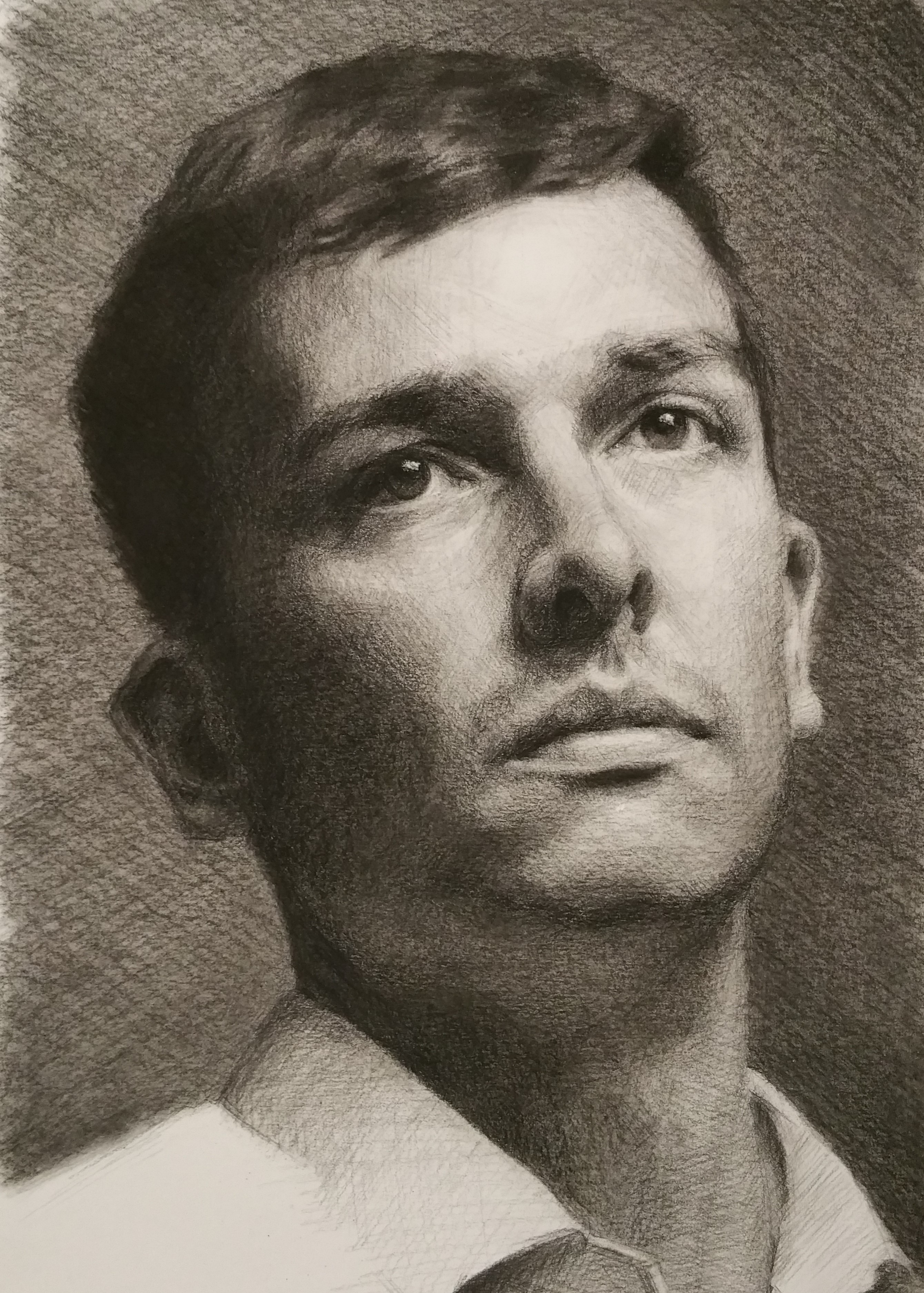"""Daryl"", charcoal on Bristol board, 20x30cm"