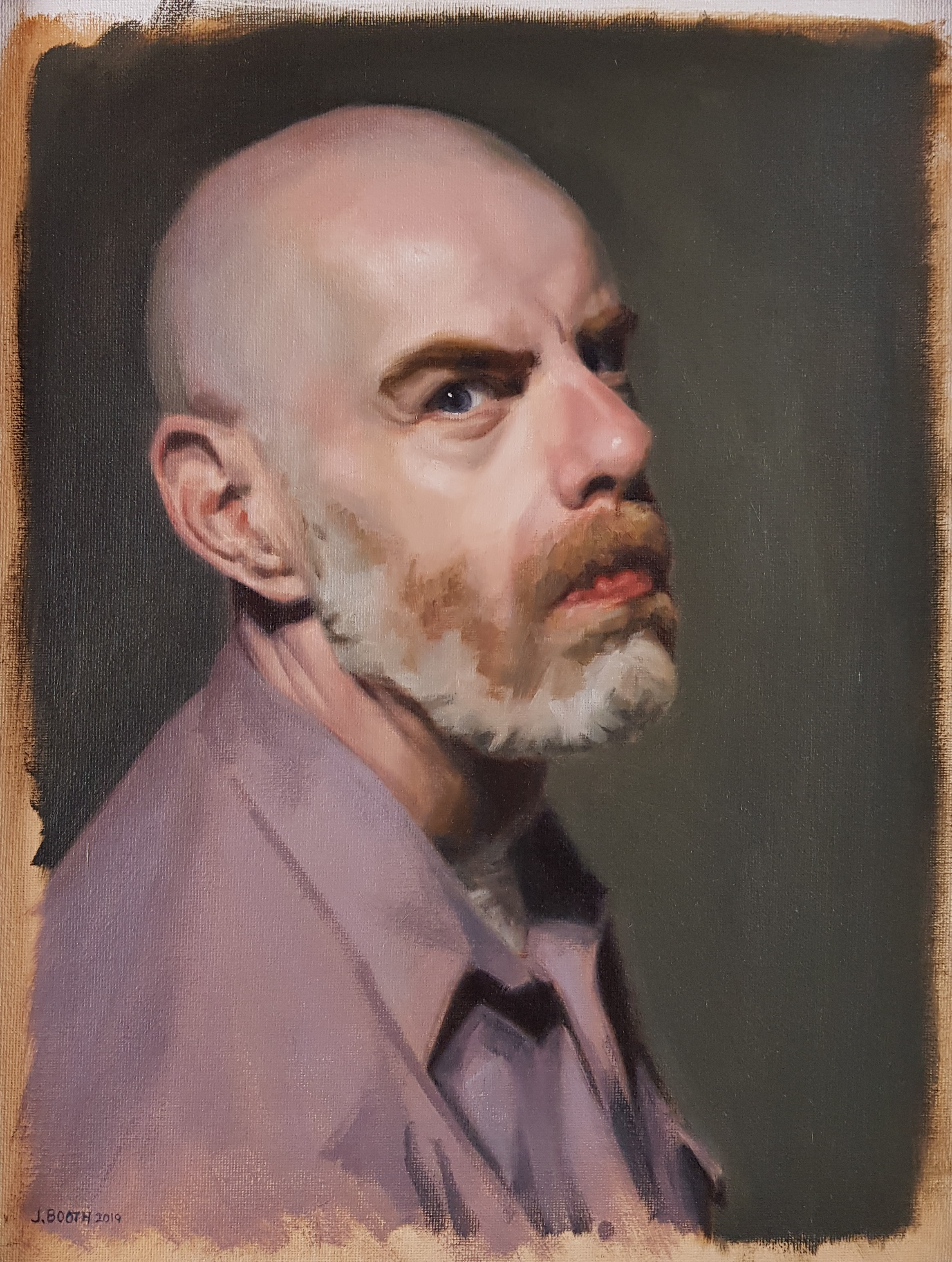 """Man with Beard"", oil on canvas, 30x40cm"