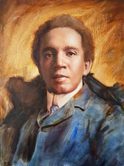 Samuel Coleridge-Taylor_oil on board_30x40cm