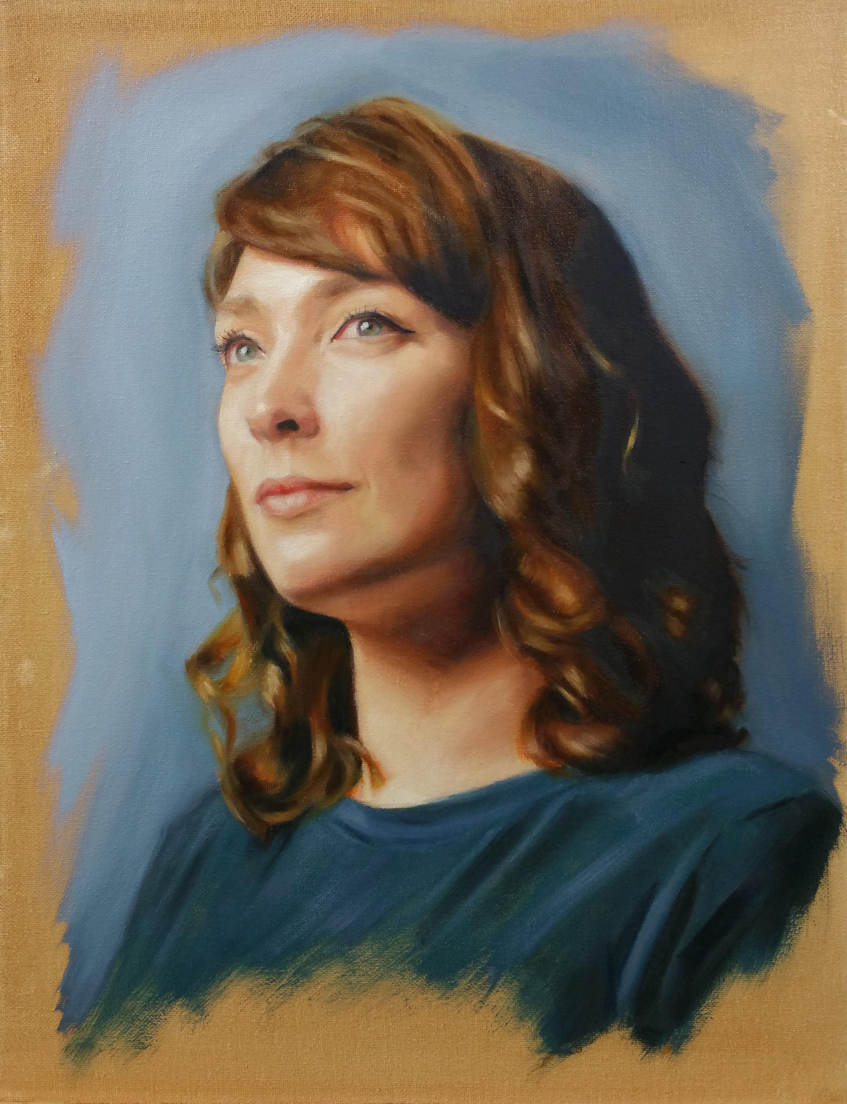 """Samantha"", oil on canvas, 40x50cm, SOLD"