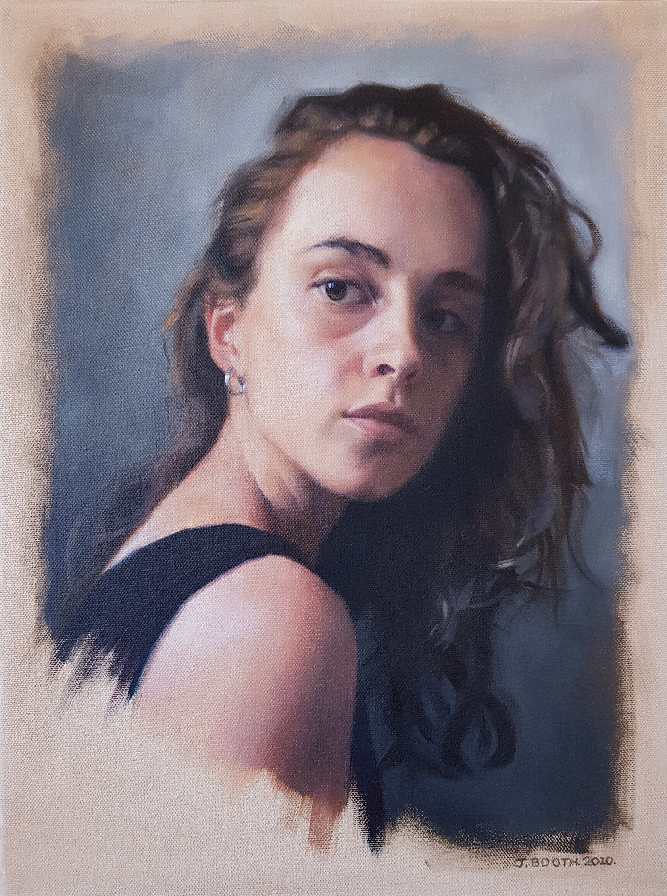 """Brown eyed girl"", oil on canvas, 30x40cm"