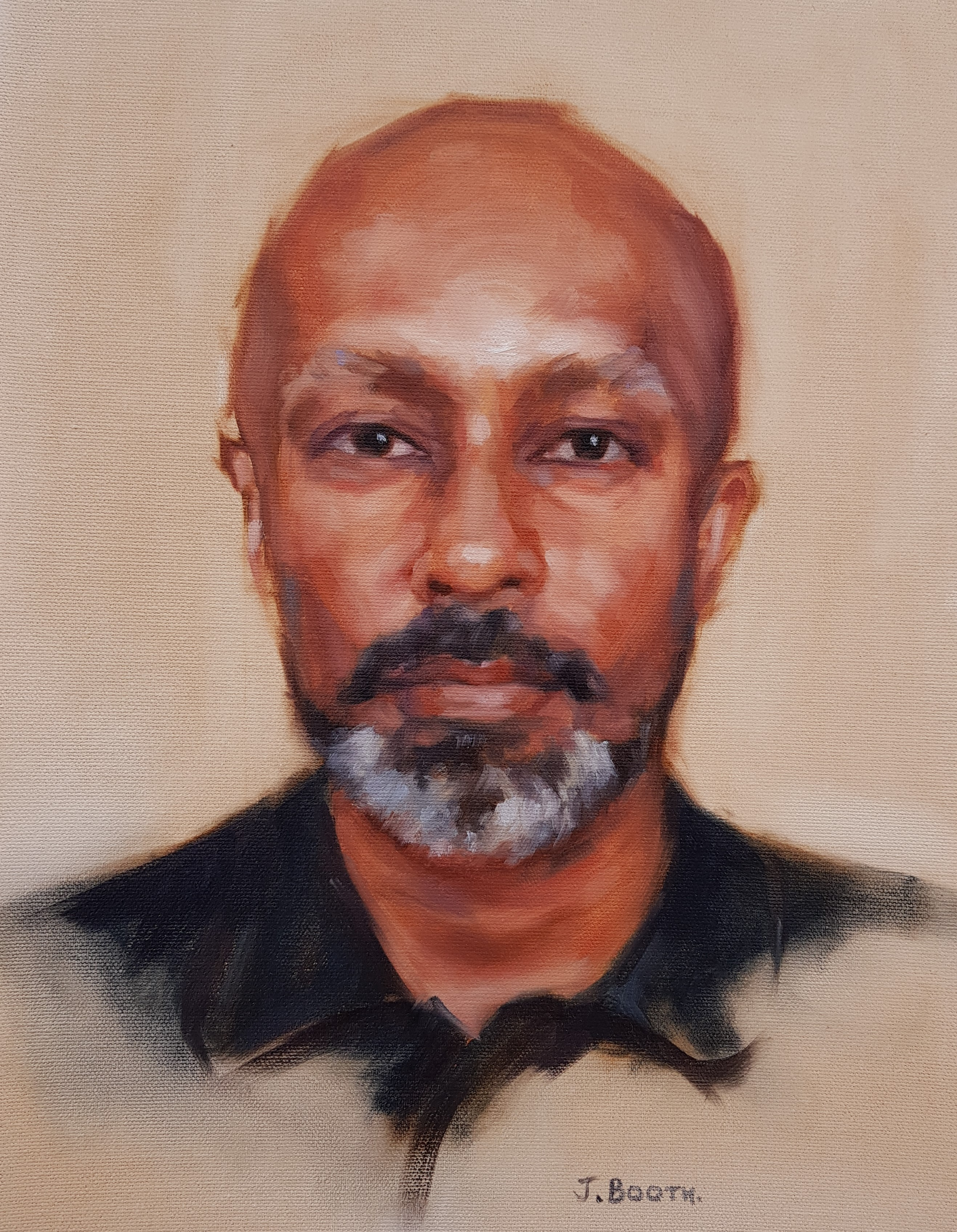 """Akram Khan"", oil on canvas, 30x40cm"