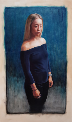 """Charlotte"", oil on canvas, 73x120cm"