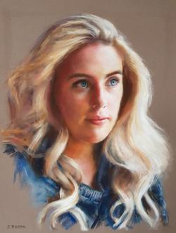 Sarah_soft pastel on pastelmat_30x40cm