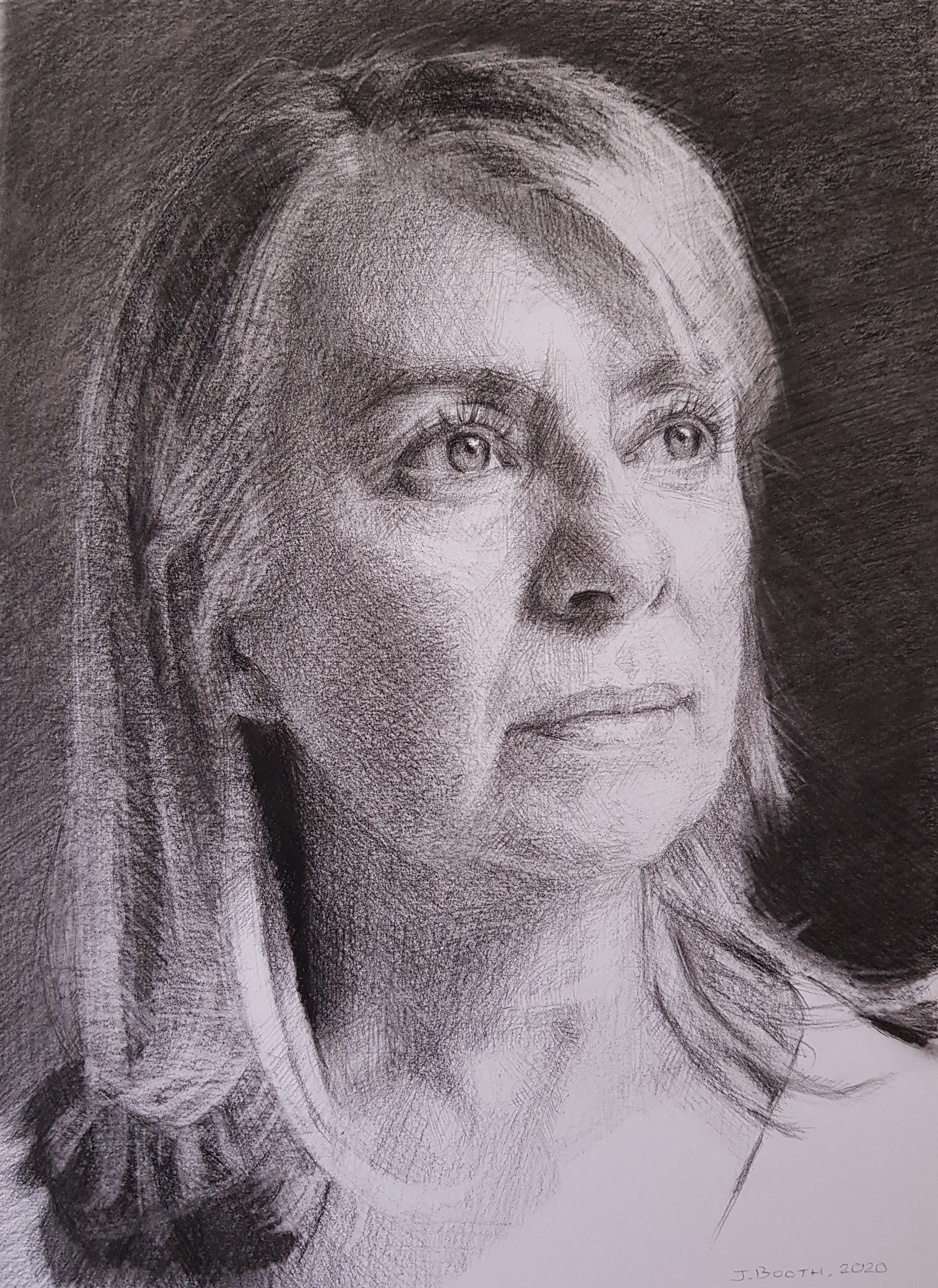 Self portrait, charcoal on Bristol board, 20x30cm, SOLD