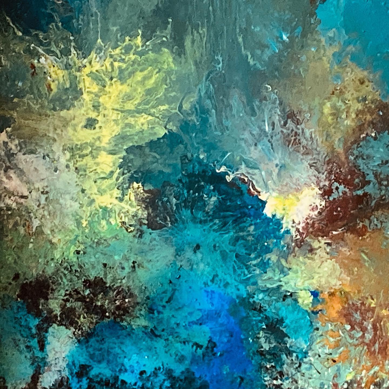 Magma 120X100 cm encres et pigments