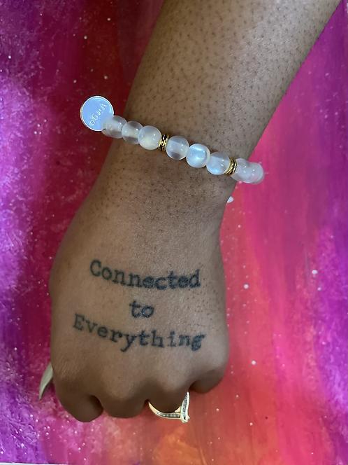 Virgo Moon Pearl Bracelet