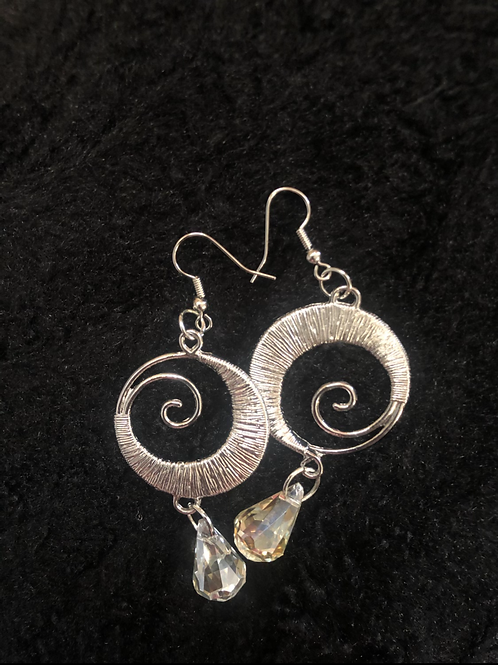 'Time Spirals' Earrings