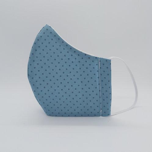 Reusable face mask PETROL BLUE, dust mask, fabric mask