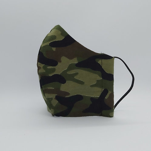 Reusable face mask ARMY GREEN BRUSHED COTTON, dust mask, fabric mask