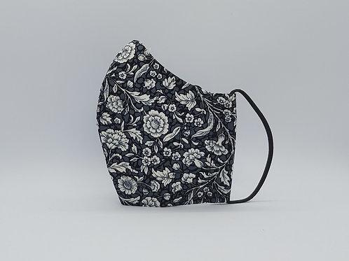Reusable Face mask MOZART FLOWERS BLACK, dust mask, fabric mask.jpg