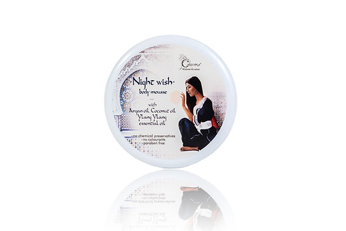 """Body mousse with argan oil and ylang-ylang extract """"Night Wish"""" 250 ml."""