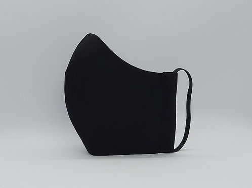 Reusable Face mask Plain black, dust mask, fabric mask,
