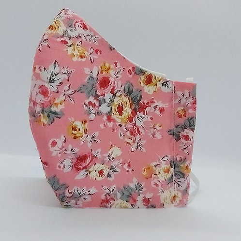 Reusable face mask PINK ROSES, dust mask, fabric mask,