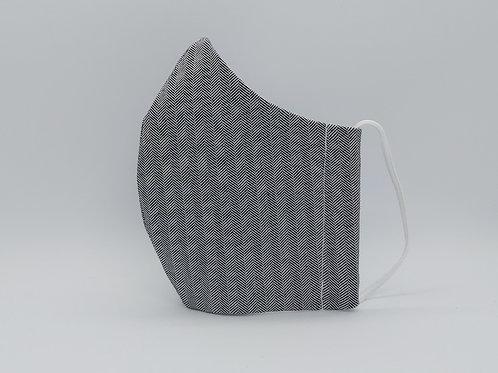 Reusable face mask Fishbone grey.jpg