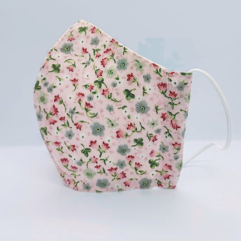Reusable face mask WILD FLOWERS in PINK, dust mask, fabric mask
