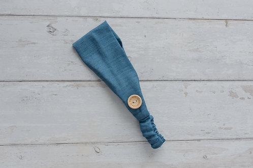 Handmade cotton headbands with side buttons DENIM LIGHT.jpg